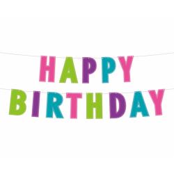 Γιρλάντα Happy Birthday Glitter πολύχρωμη 2μ.
