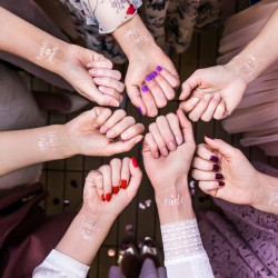 Τατουάζ Ροζ - Χρυσό Bachelorette πάρτυ
