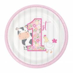Πιάτα χάρτινα  Πρώτα γενέθλια η Φάρμα των Ζώων 8τεμ