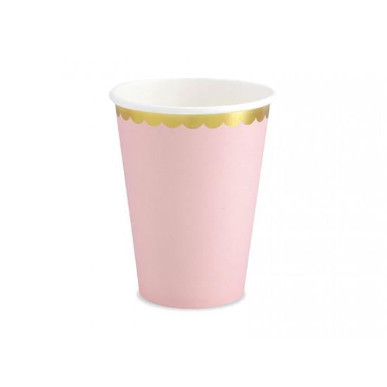 Ποτήρια Χάρτινα  Ροζ 6 τεμ.