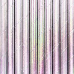 Καλαμάκια Χάρτινα σε ιριδίζον χρώμα