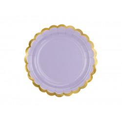 Πιάτα Χάρτινα  Λιλά 6 τεμ.