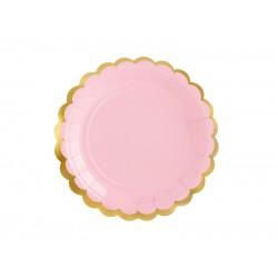 Πιάτα Χάρτινα  Ροζ 6 τεμ.