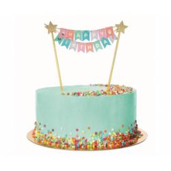 Διακοσμητικό Τούρτας Happy Birthday Πολύχρωμο