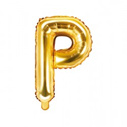 Μπαλόνι Γράμμα P Χρυσό 35εκ