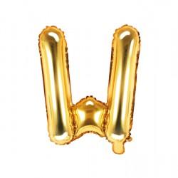 Μπαλόνι Γράμμα W Χρυσό 35εκ