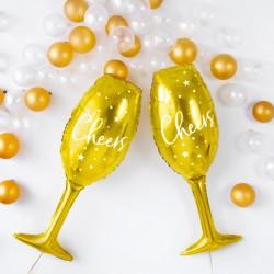 Μπαλόνι Ποτήρι Σαμπάνιας χρυσό