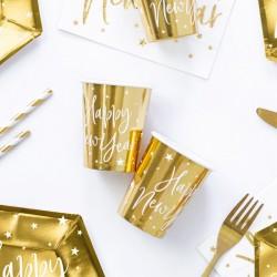 Ποτήρια  Χρυσά Happy New Year 220ml  6τεμ