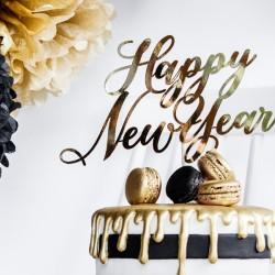 Διακοσμητικό Τούρτας Happy New Year χρυσό