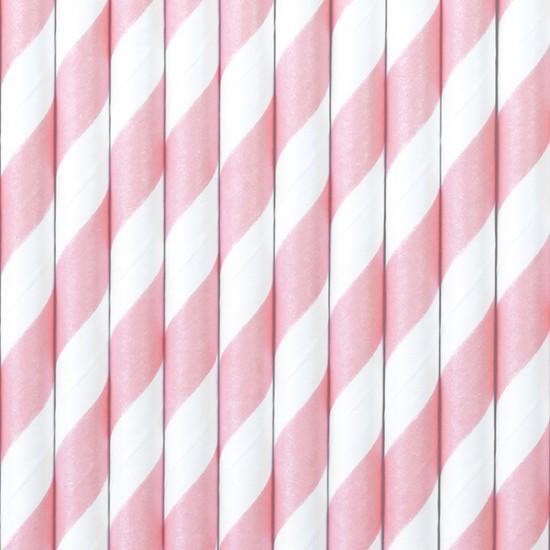 Καλαμάκια Χάρτινα ροζ