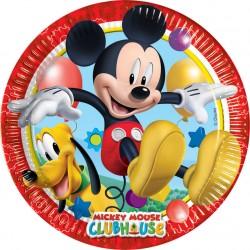 Πιάτα χάρτινα Playfull Mickey 20εκ  8τεμ