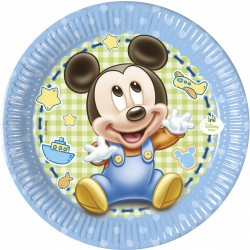 Πιάτα χάρτινα  Mickey Baby 20εκ  8τεμ