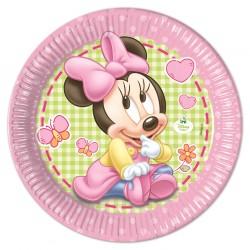Πιάτα χάρτινα  Minnie Baby 23εκ  8τεμ