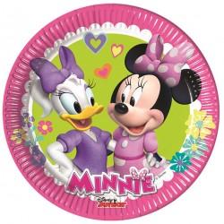 Πιάτα χάρτινα  Minnie Happy Helpers 20εκ  8τεμ