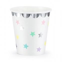 Ποτήρια χάρτινα μονόκερος - αστέρια  6τμχ