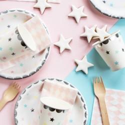 Πιάτα χάρτινα μονόκερος - αστέρια  6τμχ