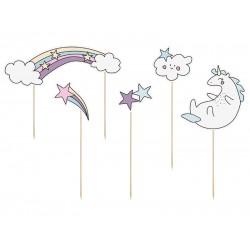 Διακοσμητικό Τούρτας Μονόκερος - Unicorn Αστέρια