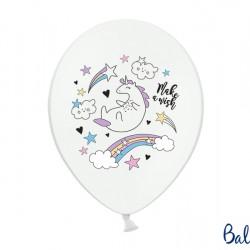 Latex Λευκά Μπαλόνια Μονόκερος