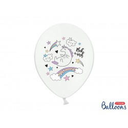 Latex Λευκά Μπαλόνια Μονόκερος - Unicorn