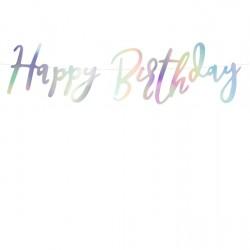 Γιρλάντα Happy Birthday ιριδίζουσα