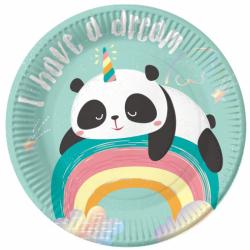 Πιάτα χάρτινα Dreamy Panda 18εκ  6τεμ