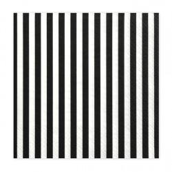 Χαρτοπετσέτες  Λευκές με Μαύρες Ρίγες