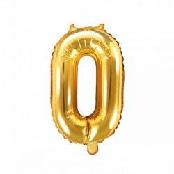 Μπαλόνι Αριθμός 0 -Χρυσό 35εκ