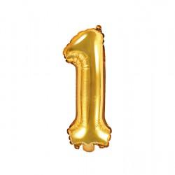 Μπαλόνι Αριθμός 1 -Χρυσό 35εκ