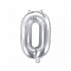 Μπαλόνι Αριθμός 0 -Ασημί 35εκ