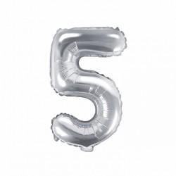 Μπαλόνι Αριθμός 5 -Ασημί 35εκ