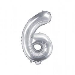 Μπαλόνι Αριθμός 6 -Ασημί 35εκ