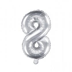 Μπαλόνι Αριθμός 8 -Ασημί 35εκ