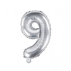 Μπαλόνι Αριθμός 9 -Ασημί 35εκ