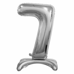 Μπαλόνι Νούμερο 7 Ασημί με βάση 74cm