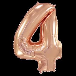 Μπαλόνι Αριθμός 4 Ροζ-Χρυσό 90εκ.