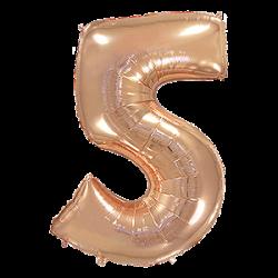 Μπαλόνι Αριθμός 5 Ροζ-Χρυσό 90εκ.