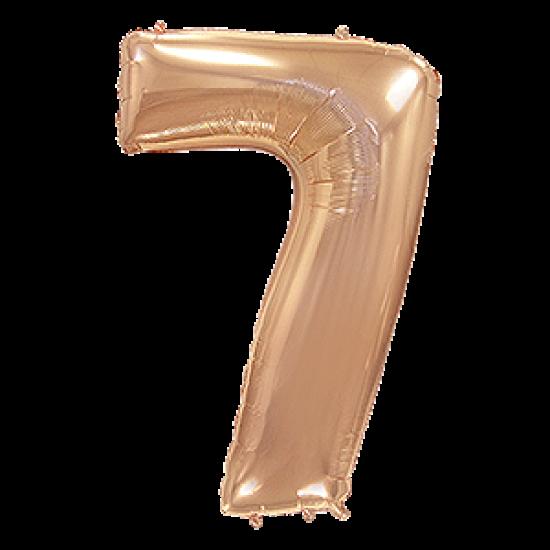 Μπαλόνι Αριθμός 7 Ροζ-Χρυσό 90εκ.
