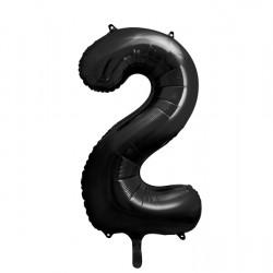 Μπαλόνι Αριθμός 2 Μαύρο 90εκ.
