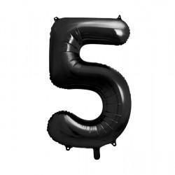 Μπαλόνι Αριθμός 5 Μαύρο 90εκ.