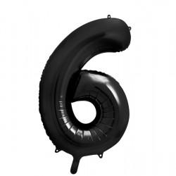 Μπαλόνι Αριθμός 6 Μαύρο 90εκ.