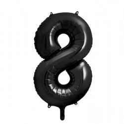 Μπαλόνι Αριθμός 8 Μαύρο 90εκ.