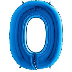 Μπαλόνι Αριθμός 0 Μπλε 90εκ.