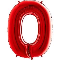 Μπαλόνι Αριθμός 0 Κόκκινο 90εκ.