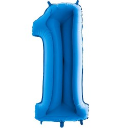 Μπαλόνι Αριθμός 1 Μπλε 90εκ.