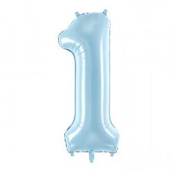 Μπαλόνι Αριθμός 1 Γαλάζιο 86εκ.