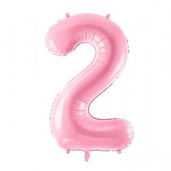 Μπαλόνι Αριθμός 2 Ροζ 86εκ.
