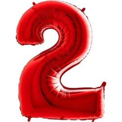 Μπαλόνι Αριθμός 2 Κόκκινο 90εκ.