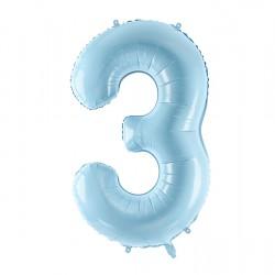 Μπαλόνι Αριθμός 3 Γαλάζιο 86εκ.