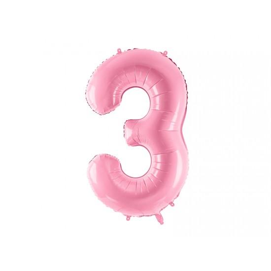 Μπαλόνι Αριθμός 3 Ροζ 86εκ.