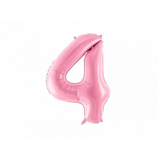 Μπαλόνι Αριθμός 4 Ροζ 86εκ.